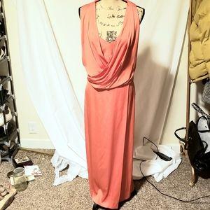 DVF Diane Von Furstenburg | Coral Silk Maxi Dress